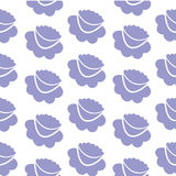 Lilac flowers, seamless background. Simple lilac flowers, seamless background. Vector illustration Stock Image