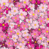 Lilac flowers of seamless pattern Royalty Free Stock Photos