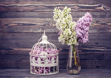 Lilac flowers. Style nostalgia Royalty Free Stock Photo