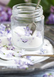 Lilac flowers sugar. Royalty Free Stock Photos