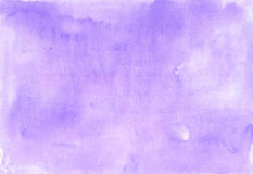 Lilac gentle background painted in watercolor Stock Image