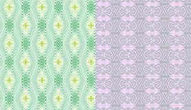Lilac geometrical and green Stock Photo