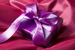 Lilac gift Stock Photos