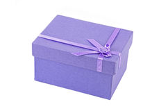 Lilac gift box Royalty Free Stock Images