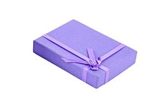 Lilac gift box Royalty Free Stock Photo