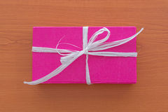 Lilac gift box Stock Photography