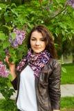 Lilac girl Stock Photos