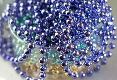 Lilac glass beads as abstract background Royalty Free Stock Images