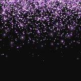 Lilac glitter on black background. Vector royalty free stock photography