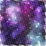 Lilac glowing pattern of triangle shapes Stock Photography