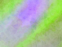 Lilac and Green Blended Watercolor Paint Texture Stock Photography