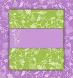 Lilac with green floral vintage Royalty Free Stock Image
