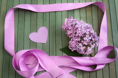 Lilac greetings Royalty Free Stock Photography