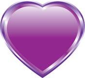 Lilac hart op wit Royalty-vrije Stock Foto