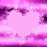 Lilac Hearts Royalty Free Stock Photography