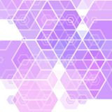 Lilac hexagons. Abstract background. template for advertising. design for business presentations royalty free illustration