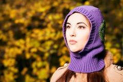 Lilac hood Royalty Free Stock Photo