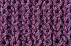 Lilac knitted wool texture Royalty Free Stock Photography
