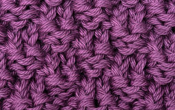 Lilac knitted wool texture Stock Image