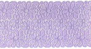 Lilac lace. On white background Royalty Free Stock Images