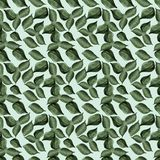 Lilac leaves watercolor seamless pattern Stock Image