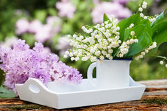 Lilac and lily of the valley Royalty Free Stock Image