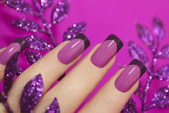 Lilac manicure. Stock Images