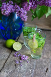 Lilac and mint tea Stock Photography
