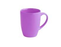 Lilac mug. High lilac mug presented on a white background Stock Photo