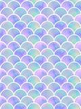 Lilac naadloze patroon van meermin` s schalen royalty-vrije stock afbeeldingen