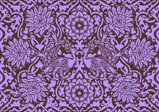Lilac ornament van het oosten Royalty-vrije Stock Afbeeldingen