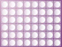 Lilac painkillers background. Royalty Free Stock Photography