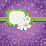 Lilac Paisley Design template or artwork royalty free illustration
