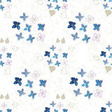 Lilac patroon van de waterverfbloem Stock Foto