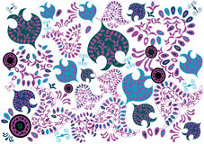 Lilac pattern Royalty Free Stock Images