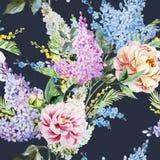 Lilac pattern Stock Image