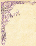 Lilac pattern painted. Handle on the texture background royalty free illustration