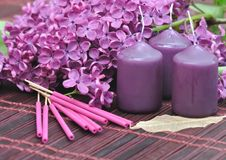 Lilac perfume Royalty Free Stock Photography