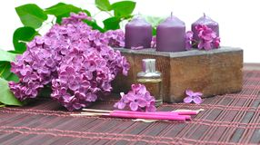 Lilac perfume Stock Images