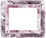 Lilac picture frame in vintage style Stock Image