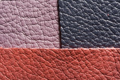 Lilac pink dark leather Stock Photos