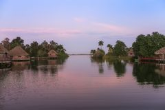 Dawn in an Indian village in Cuba Stock Images