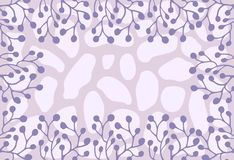 Lilac and pink ornament Stock Image