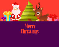 Lilac Poster Merry Christmas Stock Image