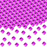 Lilac, purple background of squares and triangles vector illustration
