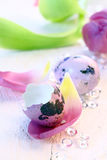 Lilac Quail Egg Royalty Free Stock Photography