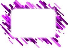 Lilac rechthoekige achtergrond op wit Royalty-vrije Stock Afbeelding