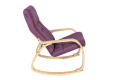 Lilac rocking-chair isolated on a white background Stock Images