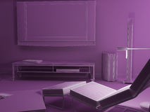 Lilac room Stock Image