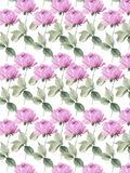 Lilac roses  English garden seamless background Colorful decorative  Floral Royalty Free Stock Image